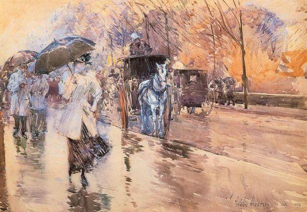Rainy Day on Fifth Avenue 1893 Childe Hassam.jpg