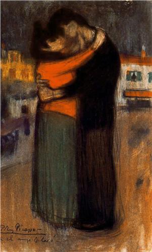P. Picasso, Εραστές του δρόμου. 1900. Ιδιωτική Συλλογή.