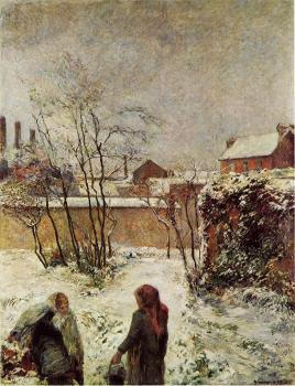 P. Gauguin, Ο κήπος με χιόνι. Οδός Carcel. 1883. Ιδιωτική Συλλογή.